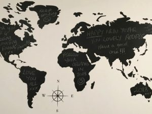 map of the world silhouette