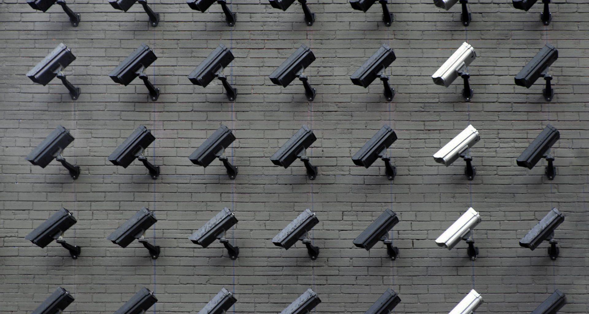 cctv cameras on a wall