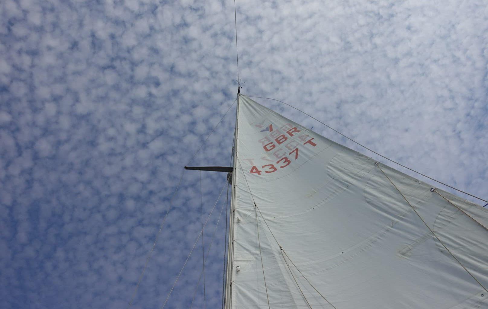 Sailing Boat Main Sail And Sky