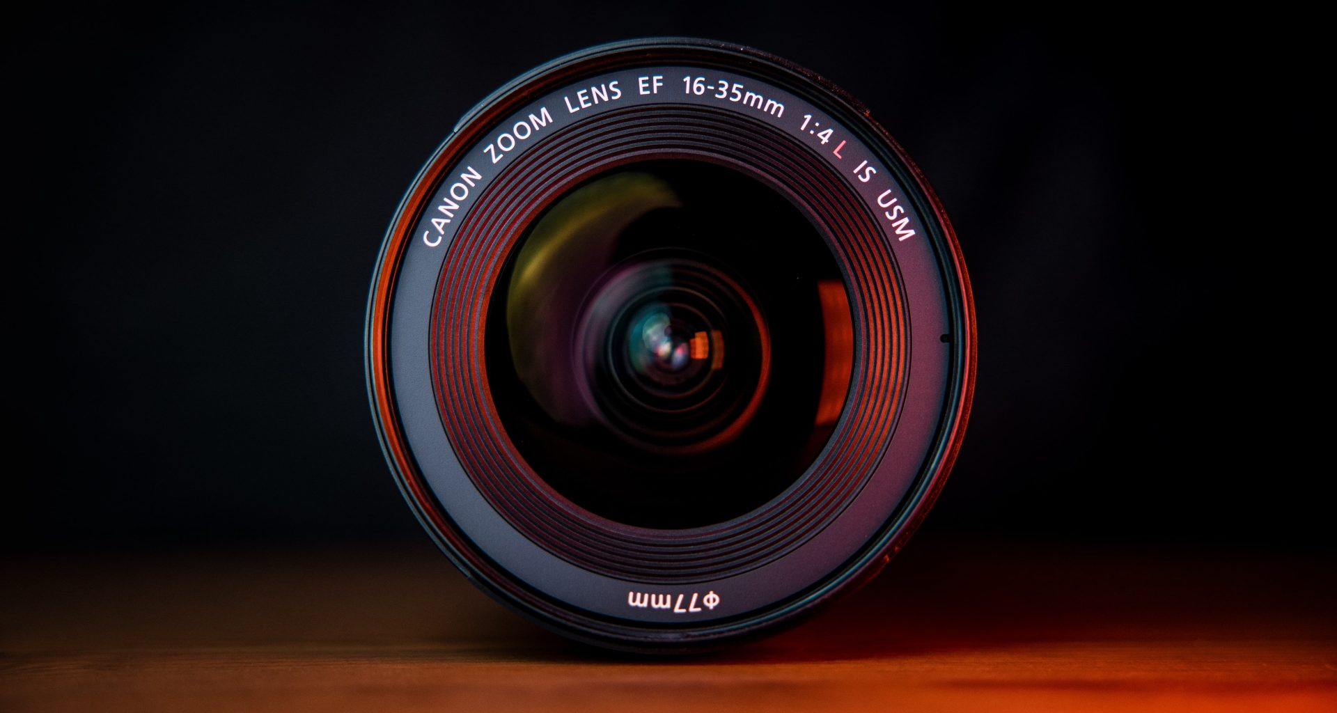 close up picture of a camera lens