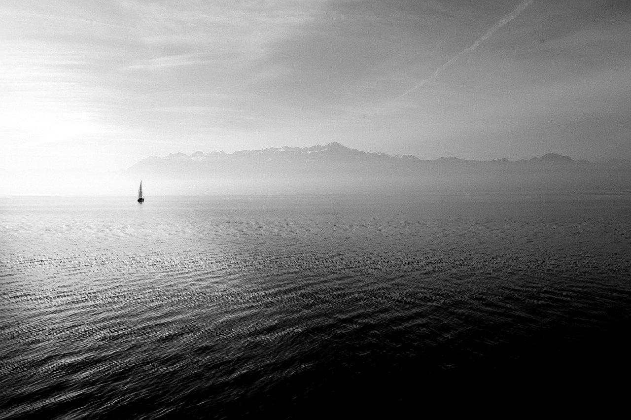sailing boat, ocean, open water